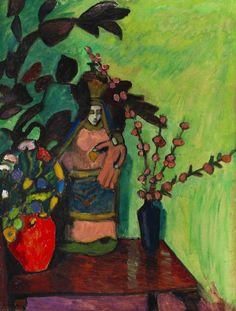Gabriele Münter Stilleben mit Madonna 1911 n,