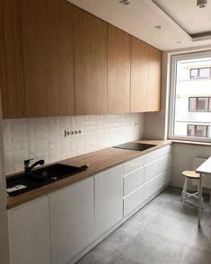 Gorgeous Modern Scandinavian Kitchen Ideas - MY World Kitchen Room Design, Kitchen Cabinet Design, Modern Kitchen Design, Kitchen Layout, Home Decor Kitchen, Interior Design Kitchen, Kitchen Ideas, Apartment Kitchen, Luxury Kitchens