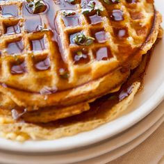 Cornmeal-Bacon Waffles  - bacon, eggs, buttermilk, butter, cornmeal, a p flour, sugar, baking powder, baking soda, s/p