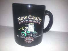 Harley Davidson coffee cup mug HD of New Castle Pennsylvania PA#Harley#HD#mug