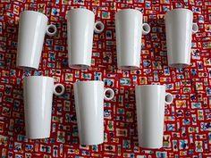 Nabízím retro hrníčky na kafe latte-keramika