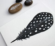 Feather Painting Watercolor Art by RiverLuna on Etsy