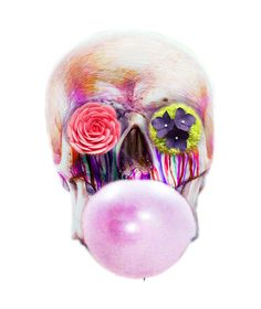 I made it. Skull with the gum