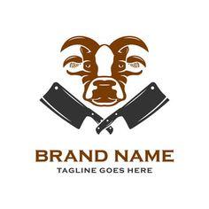 تصميم شعار من لحوم البقر المزارعين Logo Design Design Brand Names