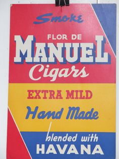 Original Vintage Manuel Cigars Tobacco Advertisement by HodesH