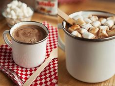 Nutella Hot Chocolate home made