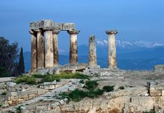 https://media.gettyimages.com/photos/temple-of-apollo-540-bc-corinth-greece-greek-civilization-6th-century-picture-id588937087