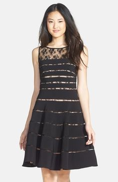 Mikael Aghal Lace Inset Ottoman Knit Fit