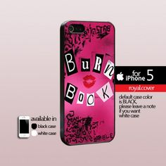 Mean Girl Burn Book - Print Hard Cover For iPhone 5 Case