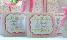 Princess Carriage Tent Signs Shabby Chic by MyBellaBirthdays, $15.00