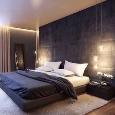 Awesome Detail Bedroom Design Ideas 3622 ration here from Industrial Interior I'd love to live here😍 Master Bedroom Interior, Luxury Bedroom Design, Modern Master Bedroom, Home Room Design, Master Bedroom Design, Home Decor Bedroom, Luxury Interior, Home Interior Design, Bedroom Loft