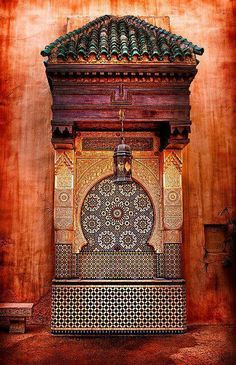 Old moroccan fountain