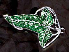Fashion Jewelry  Elven Brooch Fellowship Brooch Green Leaf Pendant Brooch #Classic