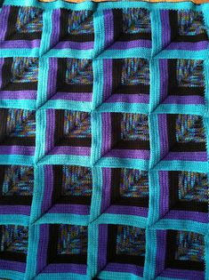 Ravelry: mortiz52's Mitered Square Afghan! Need to get better at crochet so i can make this!