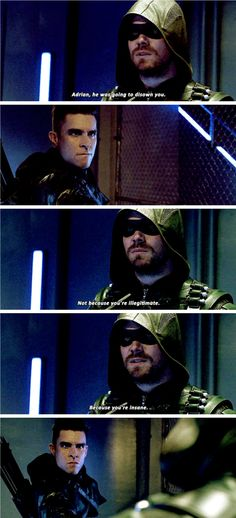 """""""You're sick, and your father knew it. You spent all this time trying to honor the memory of a man who was ashamed of you."""" #Arrow #Season5 #5x21"""