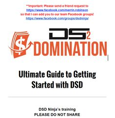 DSD 2.0 tools are incredible - listing and tracking ebay listings has never been easier. Our team members all have access to this guide - all new DSD 2.0 notes and tips added - check it out! If you have not joined yet, join our team here: http://www.dsdbiz.com?utm_content=bufferd267a&utm_medium=social&utm_source=pinterest.com&utm_campaign=buffer and we will send you the guide :)