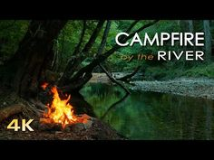 4K Campfire by the River - Relaxing Fireplace & Nature Sounds - Robin Birdsong - UHD Video - 2160p - YouTube