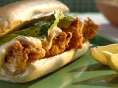 Deep-fried Oyster Po' Boy Sandwiches with Spicy Remoulade Sauce Recipe : Sunny Anderson : Food Network