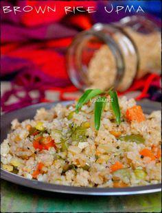 Brown Rice upma http://www.upala.net/2013/12/brown-rice-upma.html