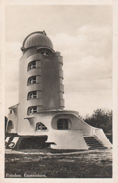 Inch Print (other products available) - circa The Einstein Obervatory in Potsdam, Germany, designed by the architect Erich Mendelsohn, and completed in (Photo by Hulton Archive/Getty Images) - Image supplied by Fine Art Storehouse - print made in the UK Fine Art Prints, Framed Prints, Canvas Prints, Bauhaus, Erich Mendelsohn, Art Deco Home, Photographic Prints, Poster Size Prints, Architecture