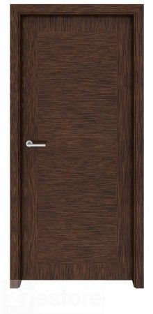 Looking for an interior door that is stately and elegant, yet modern, too? This interior door fashioned with dark walnut is a suitable candidate. It features an inlaid veneer design that mimics a paneled door through a play on vertical and horizontal grai Flush Door Design, Door Design Interior, Main Door Design, Interior Doors, Interior Modern, Walnut Veneer, Wood Veneer, Walnut Doors, Wood Doors