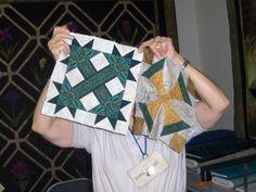 Using border print in quilt blocks makes them beautiful