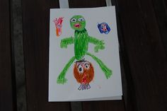 childs drawing/birthday card the muppets