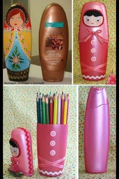 Shampoo bottle decoration