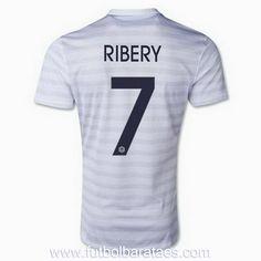comprar Nueva camiseta de Ribery 2nd Francia 2014-2016