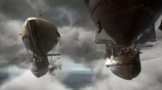 Αερόπλοια μάχης - Τρεις Σωματοφύλακες #Airships παιχνίδια παιχνιδιού εικόνες εικόνες εικόνες GameScapes GamingShot φαντασία έννοια VistaLore ψηφιακή τέχνη καθημερινά pics ομορφιάς Fantasy sci-fi επιστημονικής φαντασίας