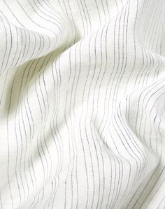 Blue Pinstripe Linen Duvet Covers / Pillows and Fitted Sheets - Yarn Dyed Nursery Bedding Sets Girl, Dorm Bedding, Linen Bedding, Bed Linens, Cheap Linens, Bed Linen Sets, Luxury Bedding Sets, Cool Beds, Yarn Colors