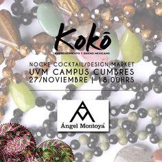 Uno de nuestros expositores de mañana ÁNGEL MONTOYA JWELRY ¡Ven y conocenos! #KokoEdm14 #moda #diseño #marketing #emprendimiento