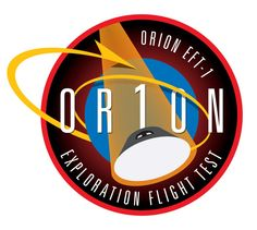 The flight test patch for the first Orion capsule, which be incorporated into NASA's next generation of heavy launch vehicle, the SLS. However, the name of the booster is no where near as sexy as a Saturn V