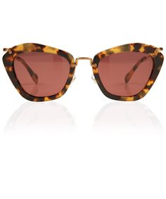 MIU MIU TORTOISESHELL NOIR CAT EYE SUNGLASSES  £225.00