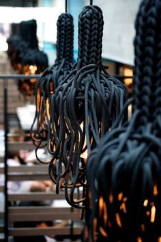 Crazy braided rope lighting fixtures