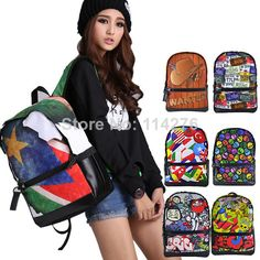 Aliexpress.com : Buy waterproof classic mochilas printing women laptop backpack new sping 2014 casual canvas backpack rucksack ,BBP122 from Reliable bag elephant suppliers on Trendy World