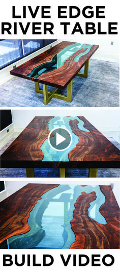 Check out this awesome Live Edge River Table I recently built for a client!