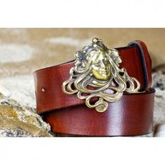 Pin Shackle Belt In Solid Brass From Cellar Leather Comes
