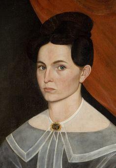 Portrait of a woman (detail)  Sheldon Peck (1797 - 1868)