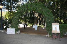 Entrada al catering de la boda de Ainhoa y José Luis en Hacienda Nadales.