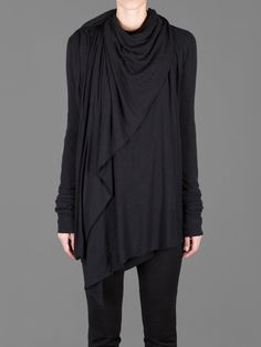 RICK OWENS LILIES   Wrapped Cardigan