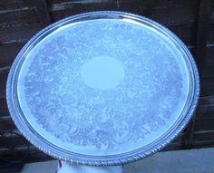 BEAUTIFUL SILVER PLATED ON COPPER BARKER ELLIS SALVER PLATTER SERVING TEA TRAY | eBay
