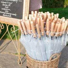 25 Clear Wedding Umbrellas, Personalized for your wedding Great April wedding favor idea | InkedWeddings.com