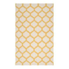 """Casablanca Dhurrie Rug - Lemon from Z Gallerie - this would be perfect in a room for about 20 minutes - between a cat with excessive hairballs and 3 children...we'd add our own """"colors"""" and i'm not sure the effect would be as refreshing!"""