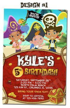 Jake and the Neverland Pirates Photo Birthday Invitations - Printable