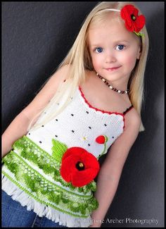 Poppy Tank Top - Crochet Sz 2-12 years