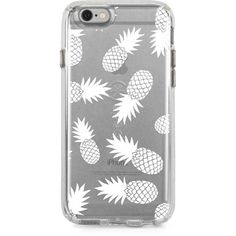 Skinit x Speck White Pineapples Candy Shell Clear Collection. Available for iPhone 6/6s & #iPhone 6/6s Plus