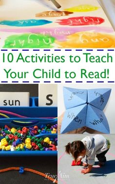 10 Activities to help you teach your child to read - totally awesome reading games!