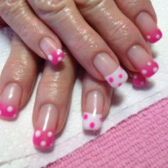 Pink poke-a-dots I love that ring finger is different!!