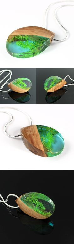 Are you ready for summer? One of a kind wood and resin jewelry. Handmade by WoodAllGood. #WoodAllGood